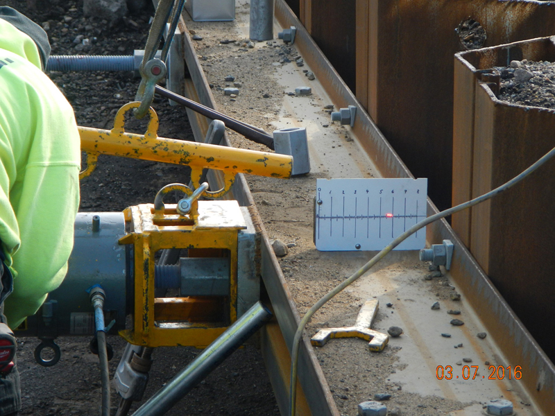 Testing program for reuse of existing materials for bulkhead structure, March 7, 2016
