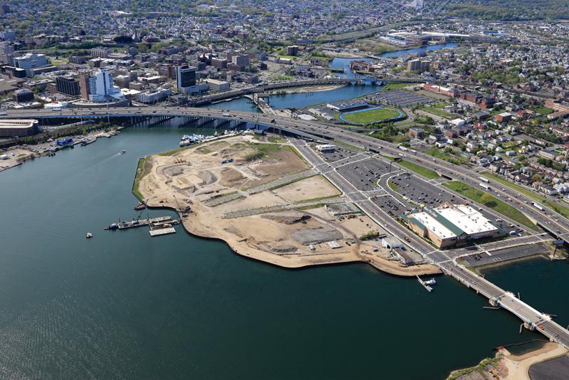 Steelpointe Harbor - Aerial view, May 12, 2016
