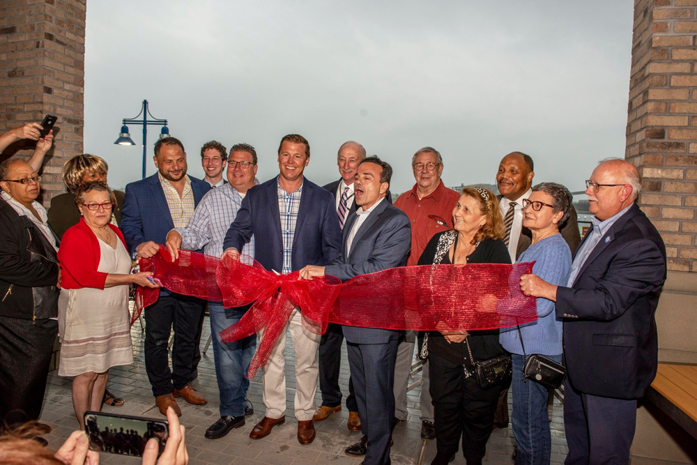 Ribbon Cutting with Bridgeport Officials